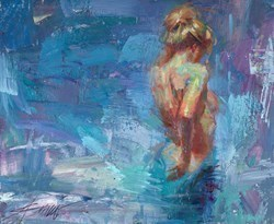 Intrigue (study) by Henry Asencio -  sized 17x14 inches. Available from Whitewall Galleries
